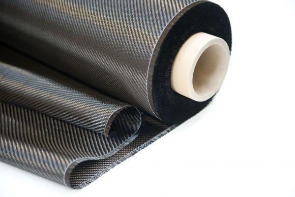245 g/m² Carbon-Gewebe, Breite 100 cm, Köper